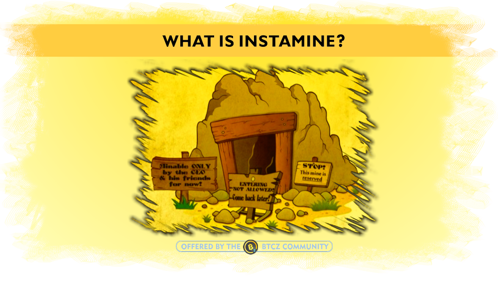 What is instamine in cryptocurrencies?