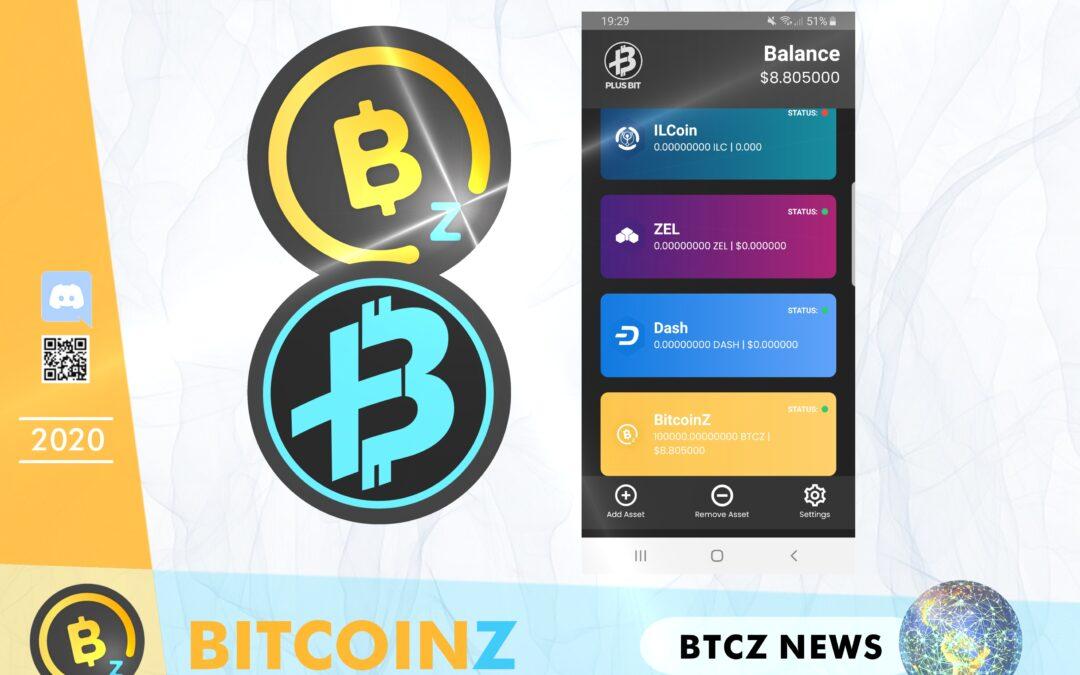 BITCOINZ hosted in PlusBit Multiwallet!