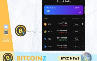 BITCOINZ logo is fixed in Blockfolio!