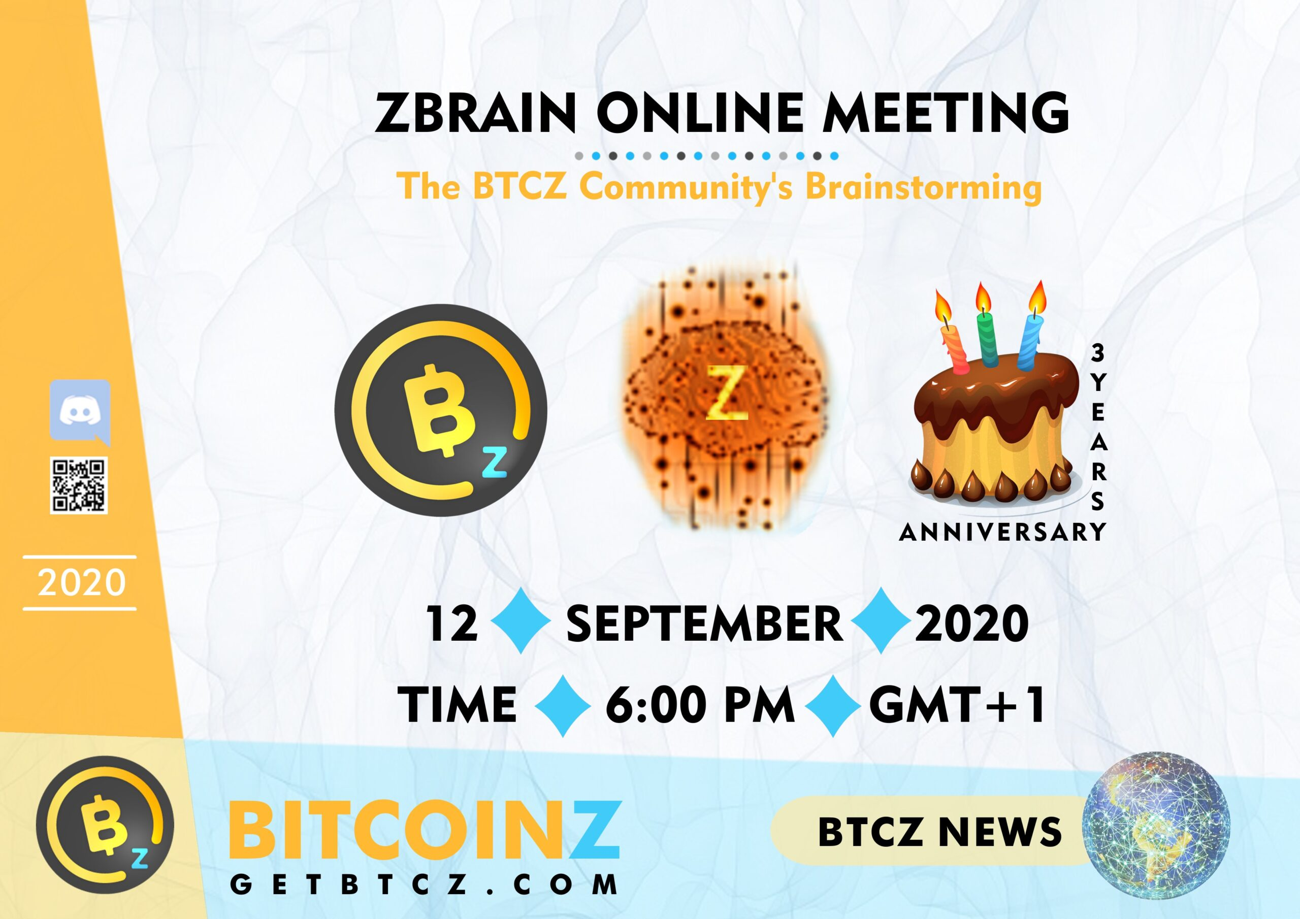 Z-Brain Online Meeting & BITCOINZ Birthday!