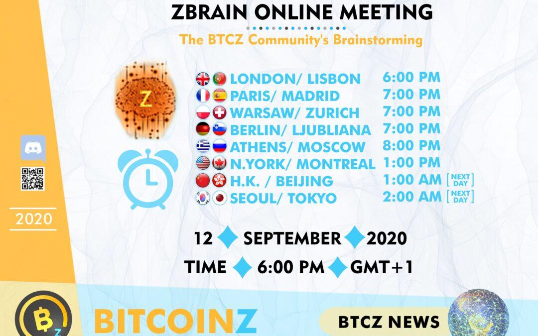 September ZBRAIN Meeting: COUNTDOWN!