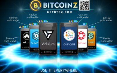 BITCOINZ Wallet App options!