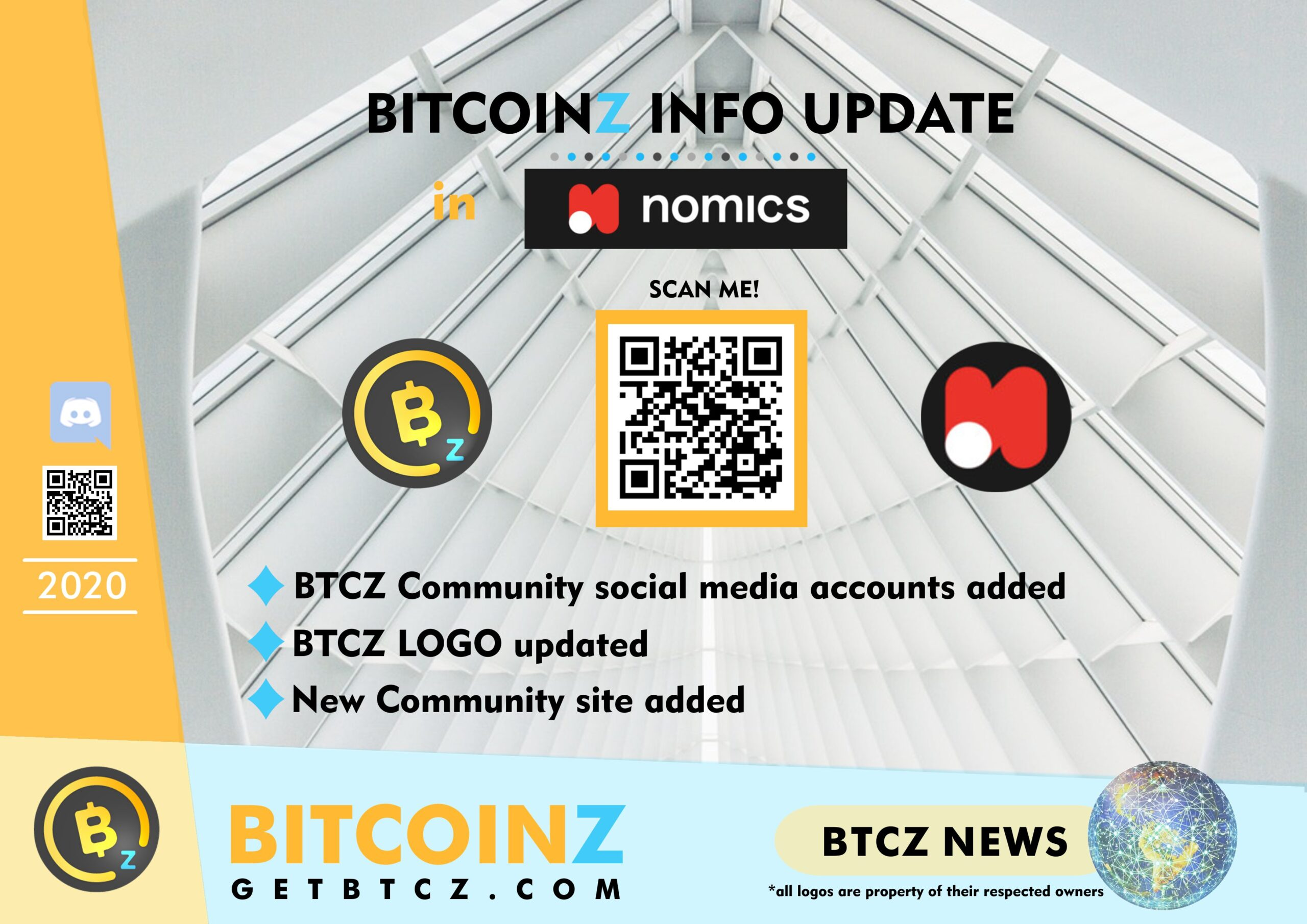 BitcoinZ Information Update in Nomics