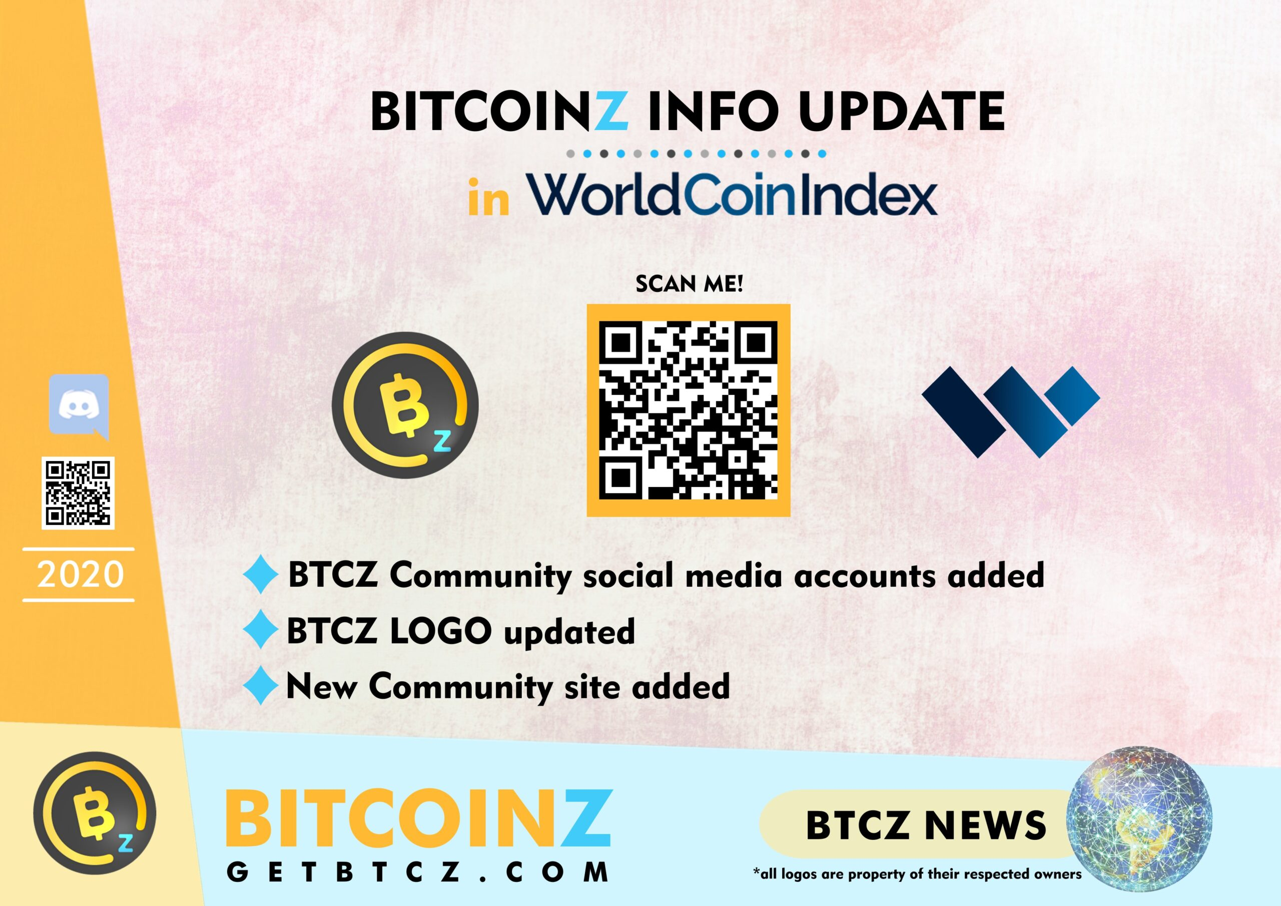 BITCOINZ Update in the WorldCoinIndex