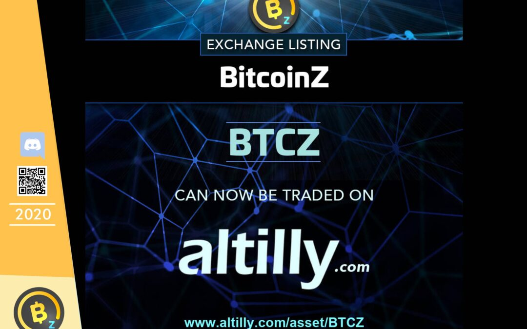 BITCOINZ is listed in Altilly Exchange