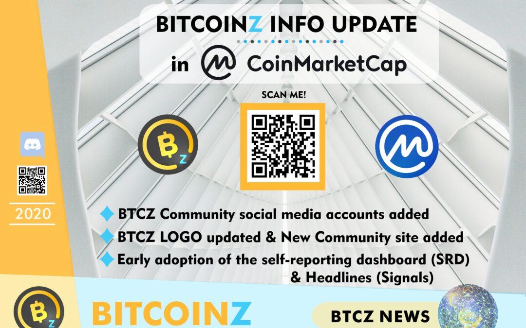 MAJOR BITCOINZ UPDATE IN COINMARKETCAP