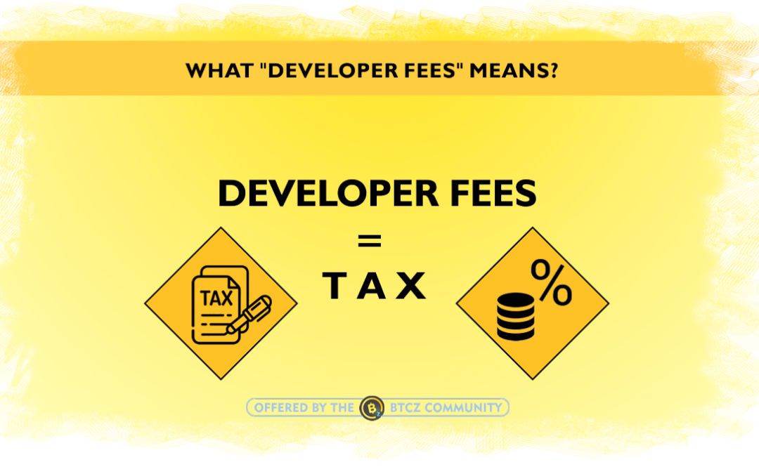 Developer fee or tax crypto