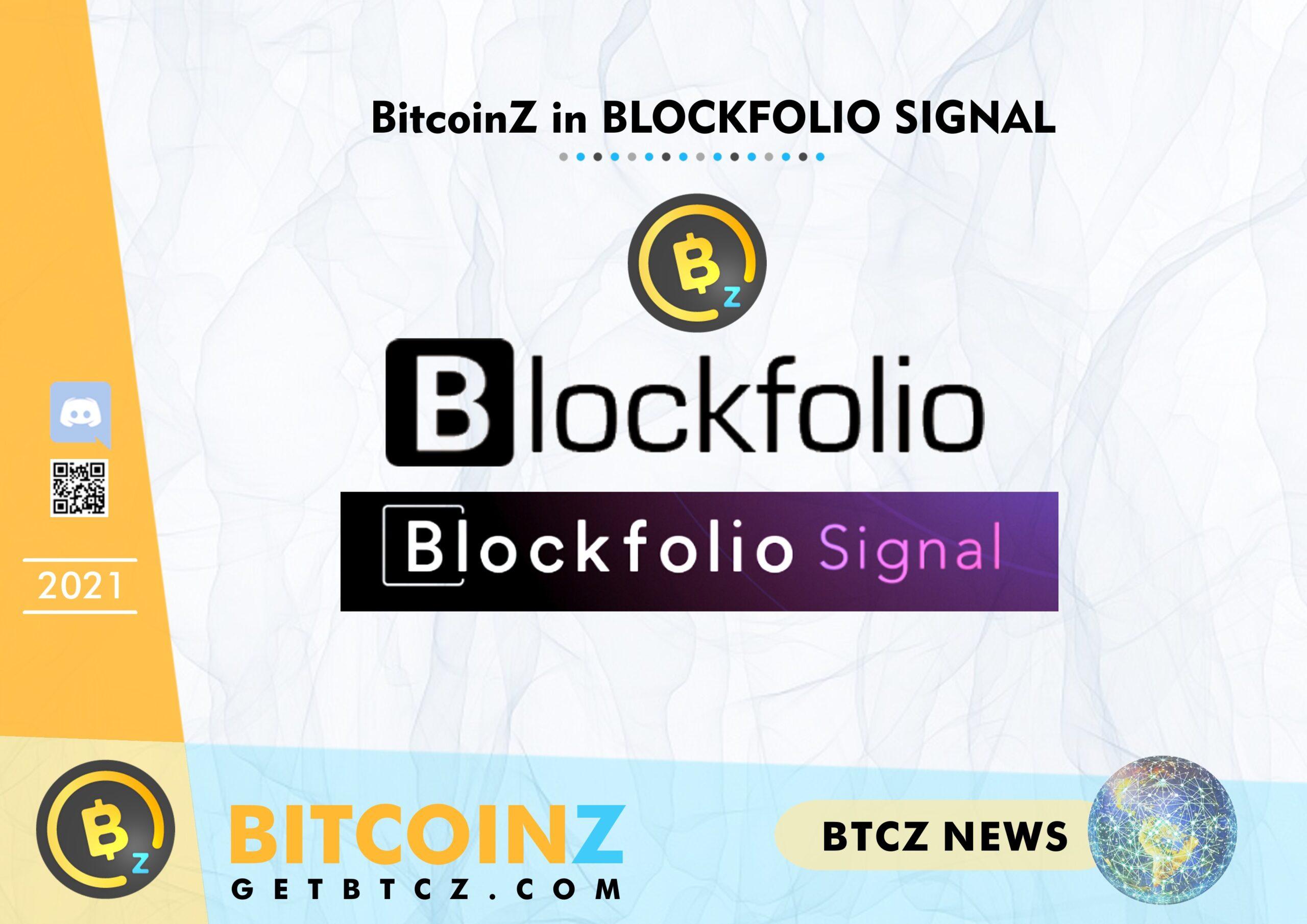 BITCOINZ in BLOCKFOLIO Signal!