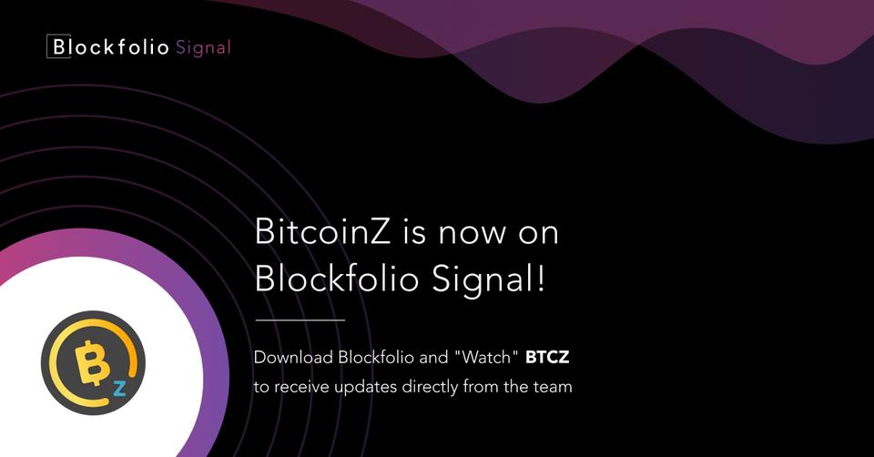 BITCOINZ in blockfolio signal