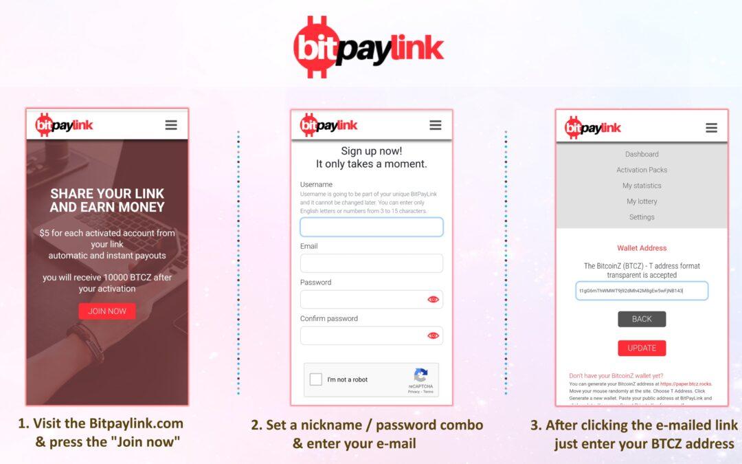 BitPaylink Lottery and BitcoinZ Exchange