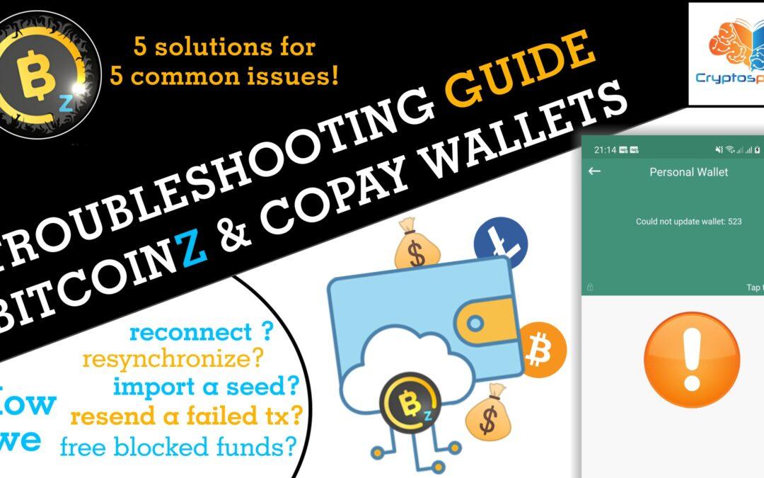 BITCOINZ Wallets Troubleshooting