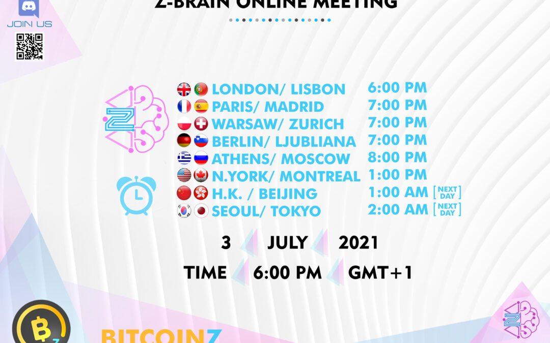 ZBrain meeting 3 July 2021