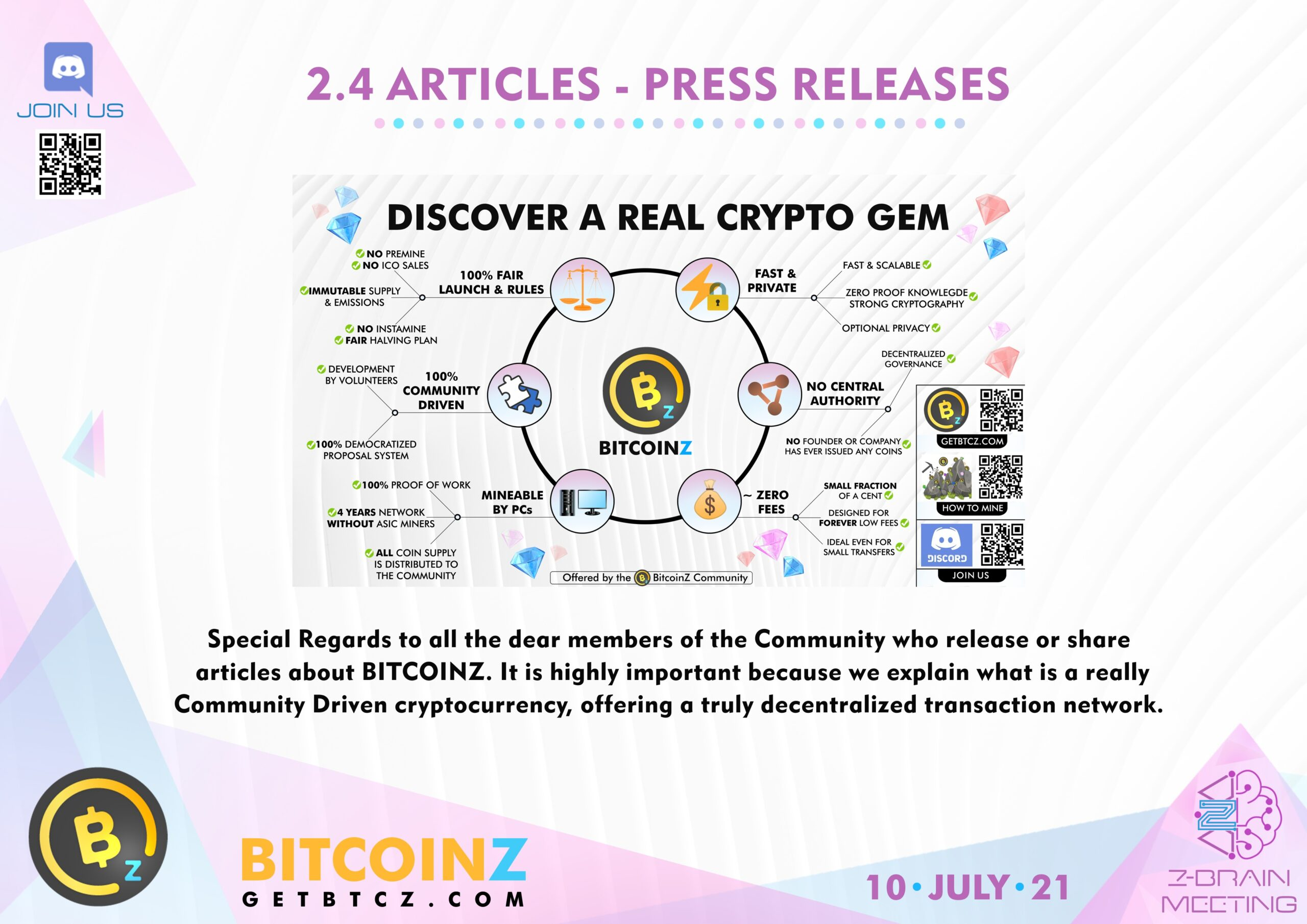 Press Releases BITCOINZ