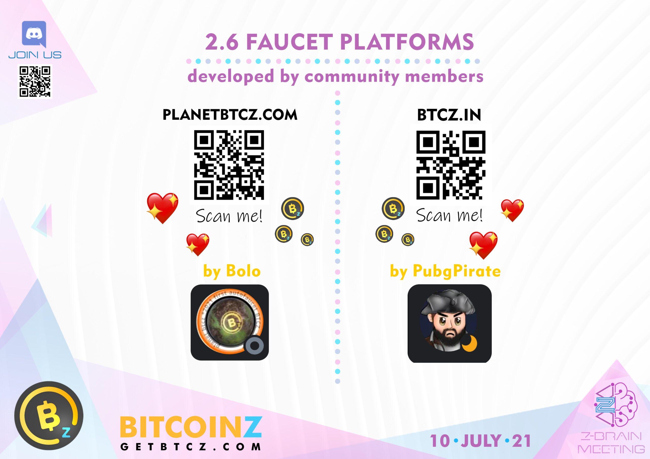 BITCOINZ faucet platforms