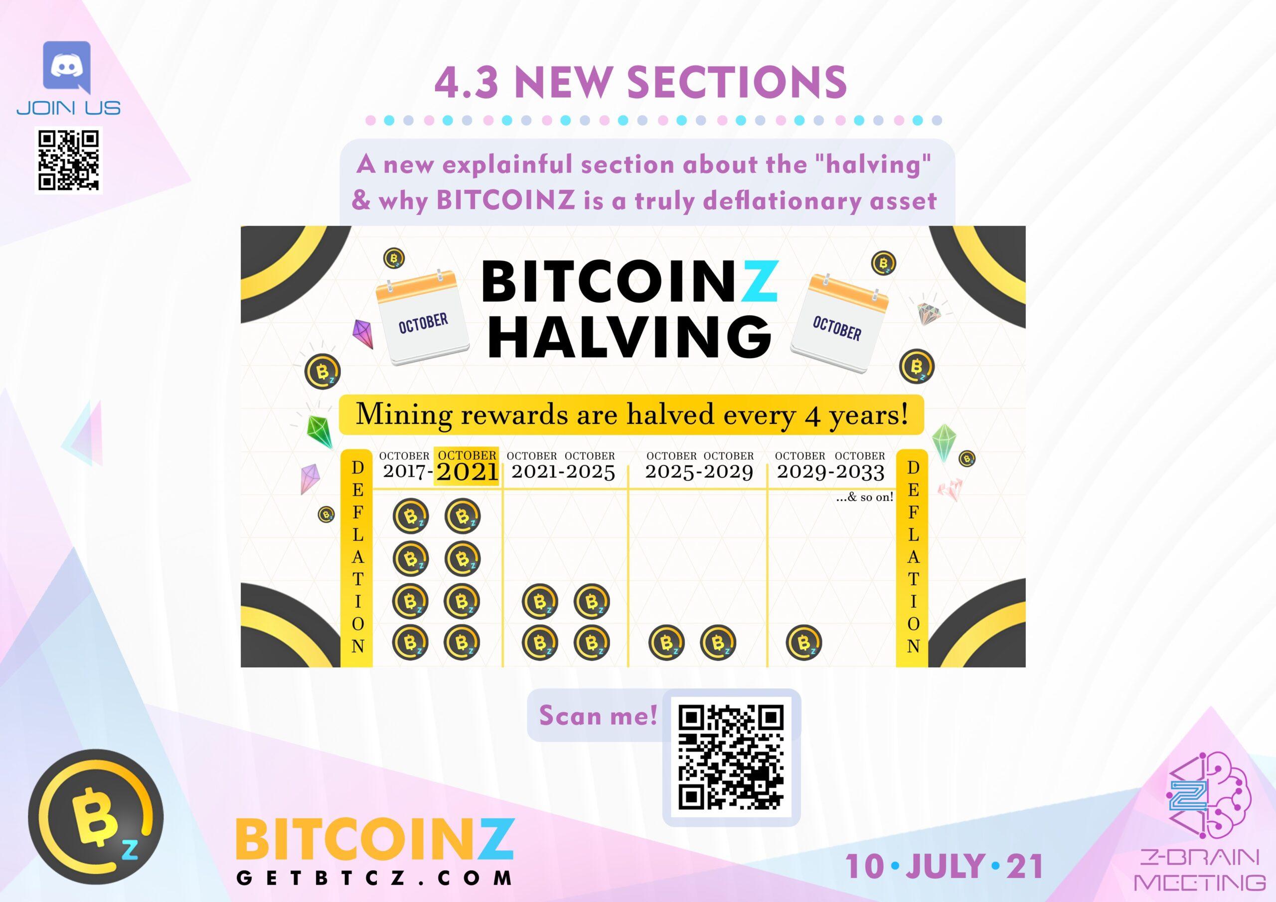 BITCOINZ Halving Z-Brain