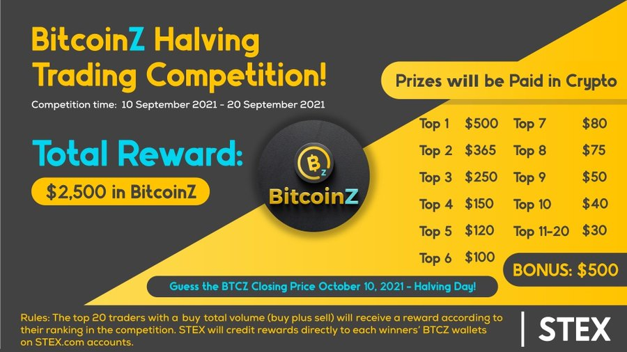 STEX BITCOINZ halving competition