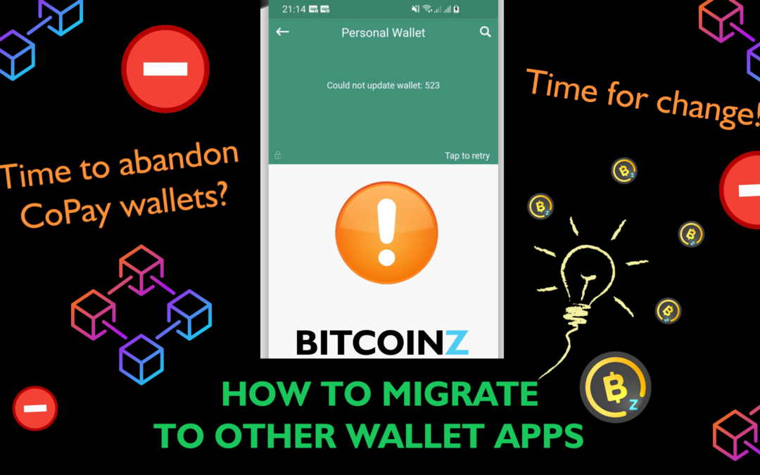 Abandoning the old BITCOINZ CoPay wallets (Light & Android mobile)